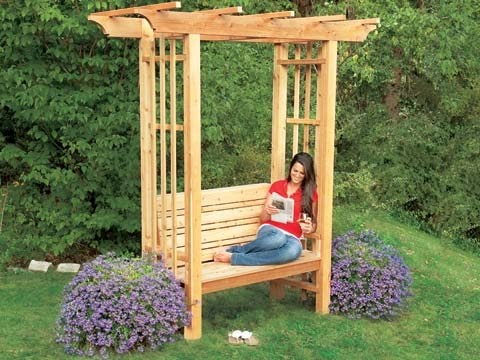 Bon Learn How To Make A Cozy DIY Garden Arbor For Your Yard. This Beautiful  Arbor Is Made From Western Red Cedar Which Gives It A Classy Look And Helps  ...