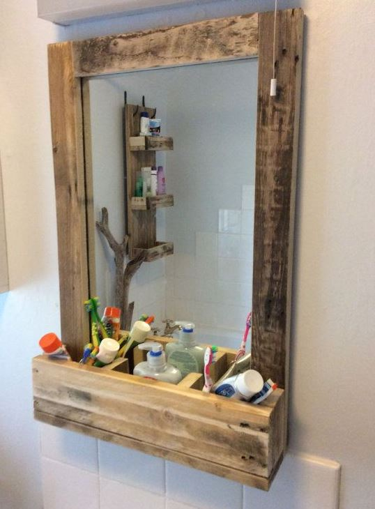 12 beautiful diy pallet furniture bathroom ideas for Bathroom ideas made from pallets