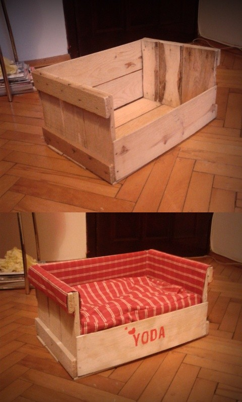 10 purrfect diy pallet cat beds for your pampered feline for Make a cat bed out of a box