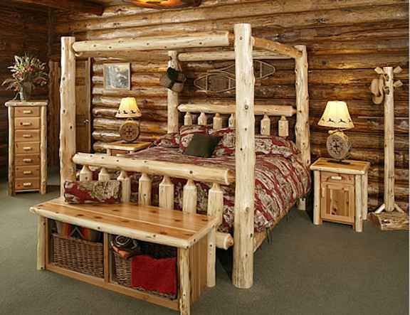 30 Incredible Log Furniture Project Ideas