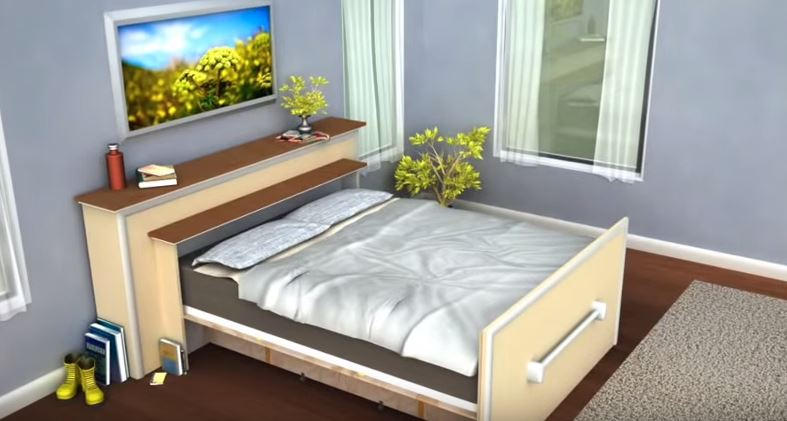 roll out bed this built in diy roll out bed hides when not in use 11163