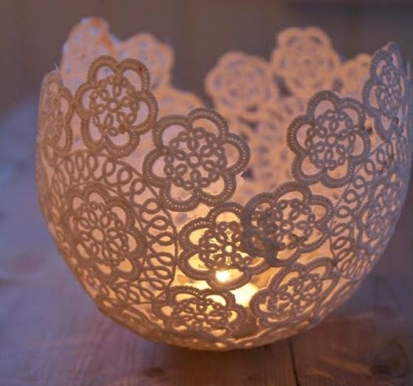 diy doily lanterns