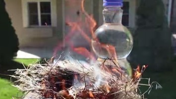 start a fire with water