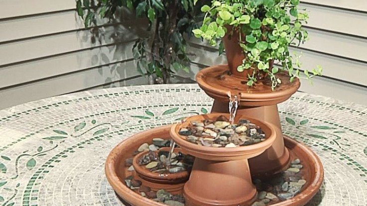 diy clay pot water fountain