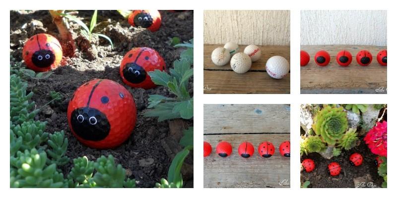 diy ladybug golf balls
