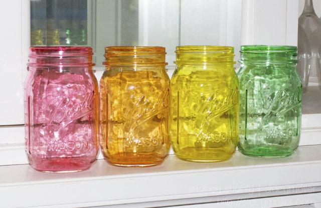 Translucent Diy Colored Mason Jars