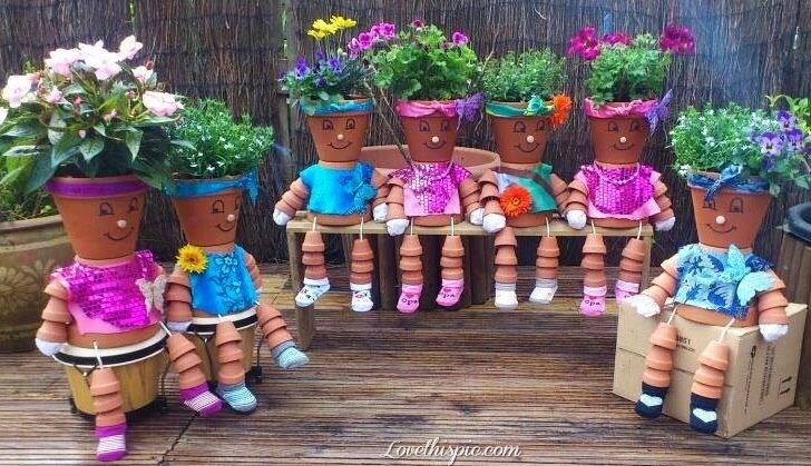 diy pot people