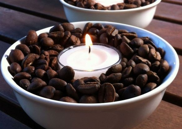 vanilla coffe bean candle bowl