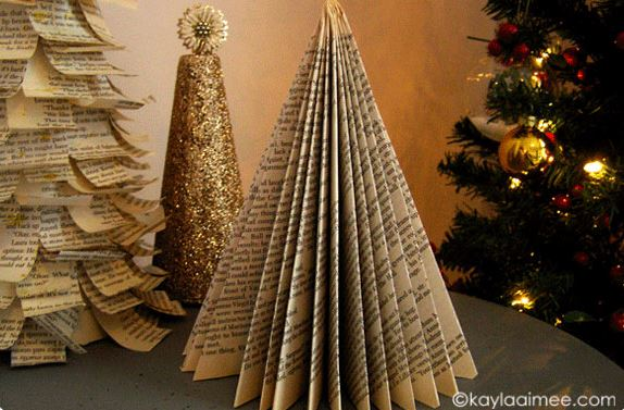 How To Make A Folded Paperback Christmas Tree