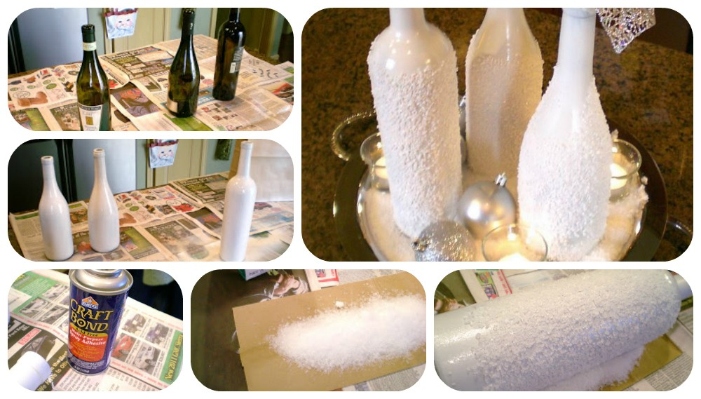 diy christmas wine bottles