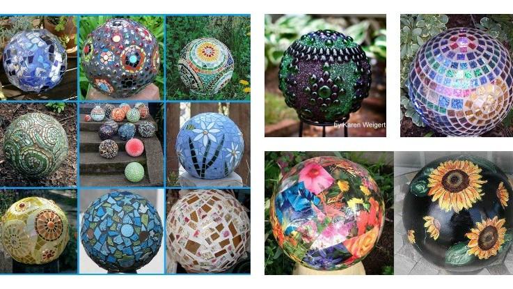 diy garden gazing balls