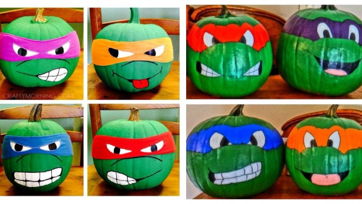 Super Easy Craft Tutorial For Making These Awesome Ninja Turtle Pumpkins