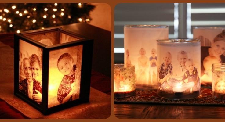 2 Dazzling DIY Photo Luminaries on homemade ribbon, homemade halloween, homemade thanksgiving, homemade snowplow, homemade astrolabe,
