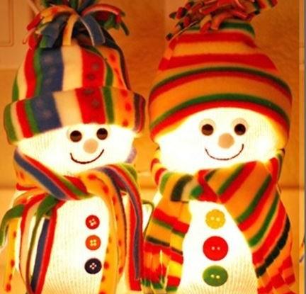 diy fishbowl snowmen