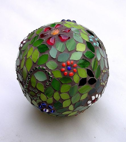 glass mosaic sphere - Mosaic Glass Christmas Ornaments & Spheres