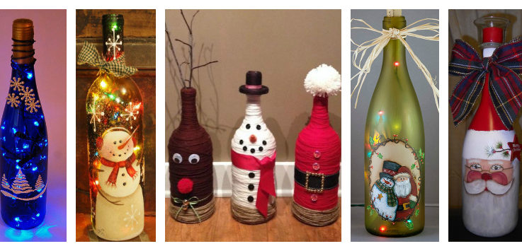 I Thought It Would Be Fun To Share Some Really Pretty Recycled Wine Bottle Christmas Light Luminaries Decorate Our Homes With Or Make For Loved Ones