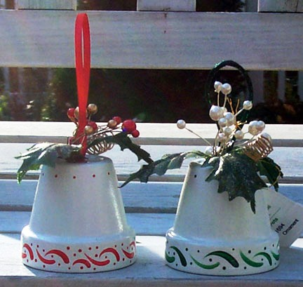 clay pot bell ornament