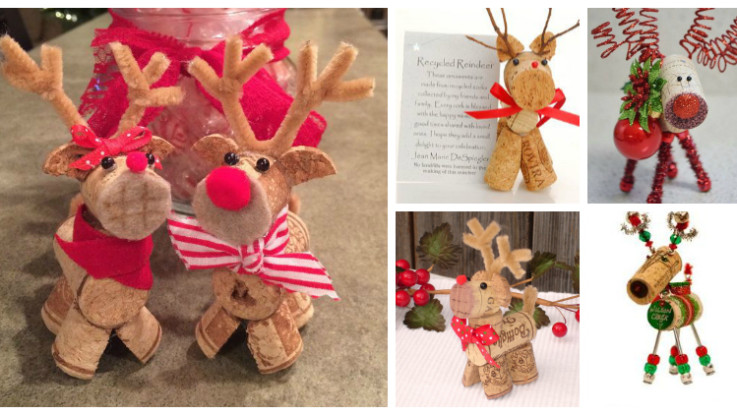 cork reindeer crafts