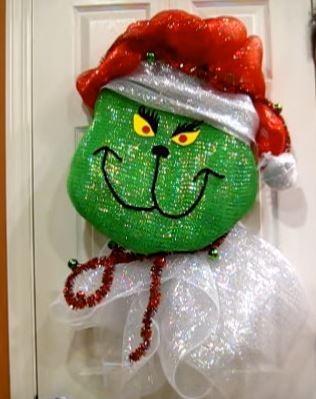 deco mesh grinch wreath