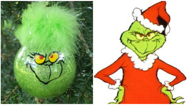 Simple Tutorial For Making Grinch Ornaments