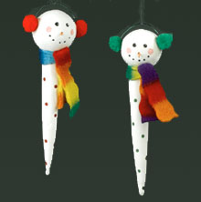icicle snowman ornaments