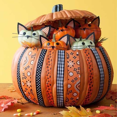 diy kitty pumpkin