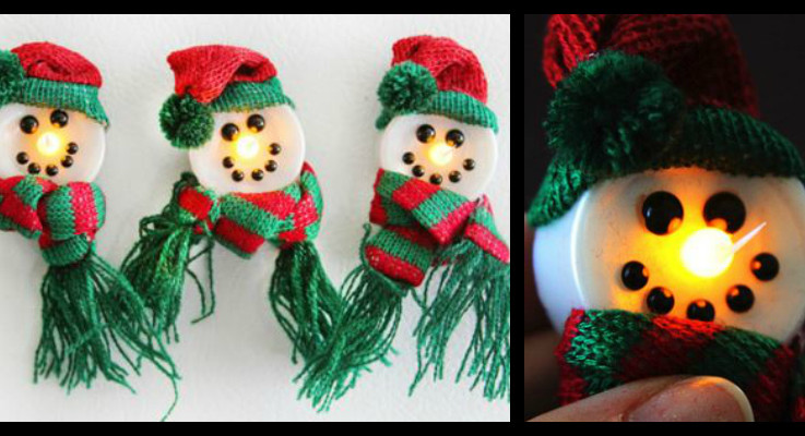 magnetic snowman lights