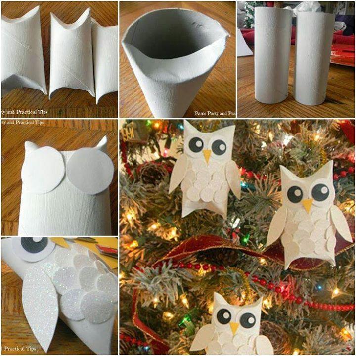 glitter owl ornaments