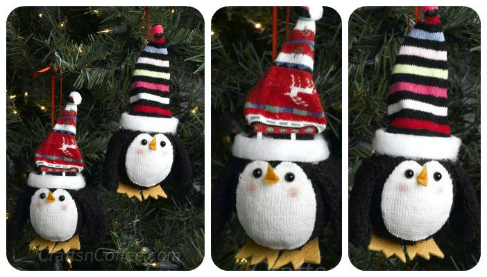 diy penguin ornaments