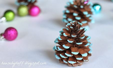 painted pinecone ornaments