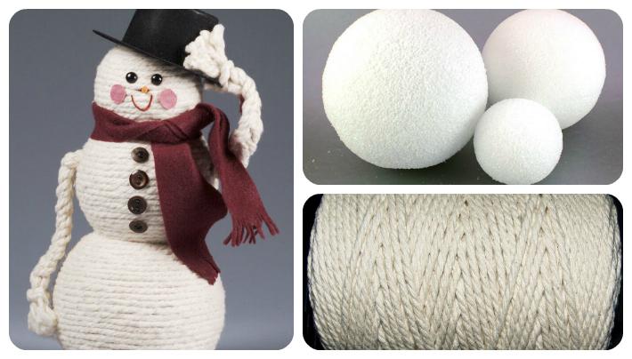 rope snowman