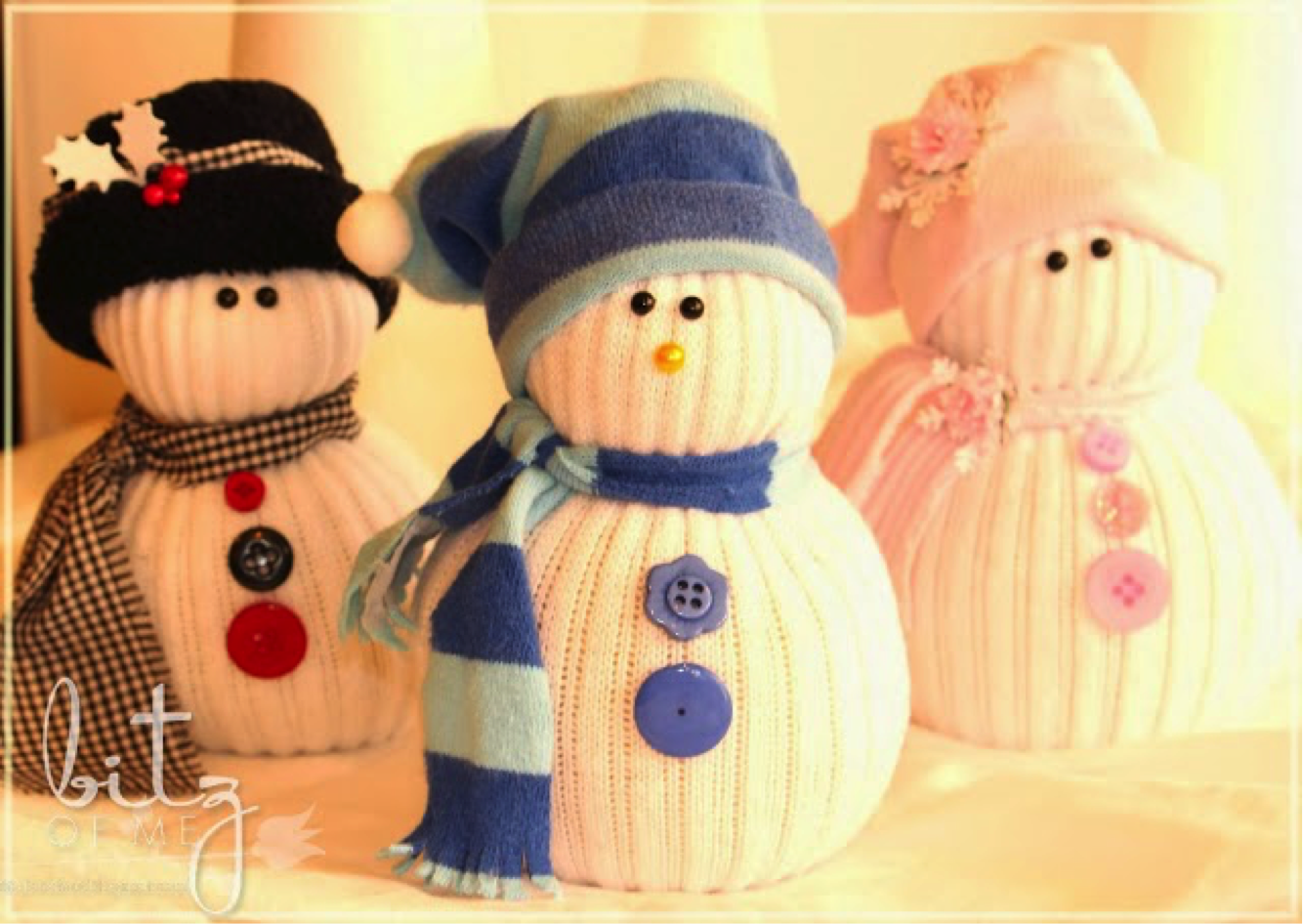 simple steps for making a sock snowman video tutorial