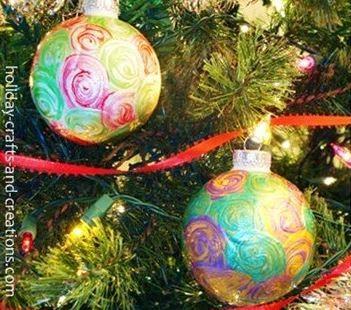 christmas swirl ornaments