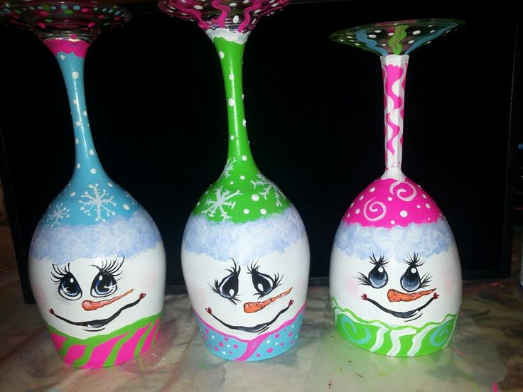 25 Gorgeous Snowman Wine Glass Candle Holders
