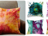 alcohol ink pillows
