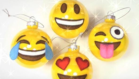 emoji christmas ornaments