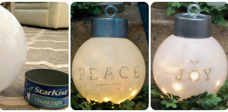 lighted globe lanterns