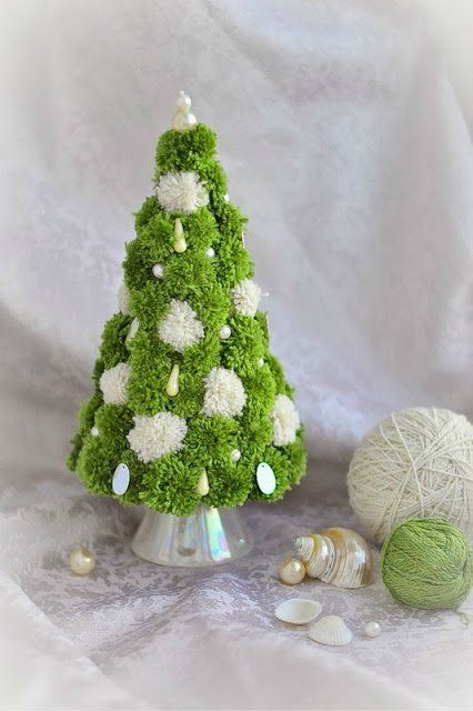 These Colorful Pom Pom Christmas Trees Will Make You Smile