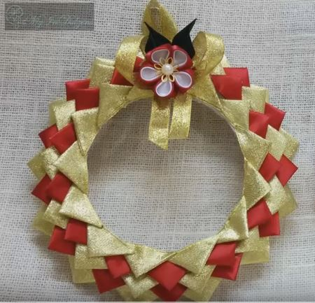 satin wreath ornament
