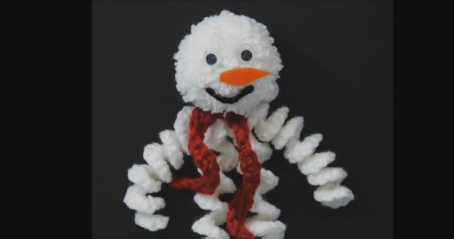 How To Make A Curly Q Crochet Snowman Ornament