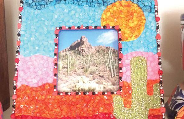 diy mosaic tile picture frames
