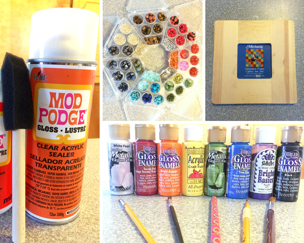 diy mosaic tile picture frames