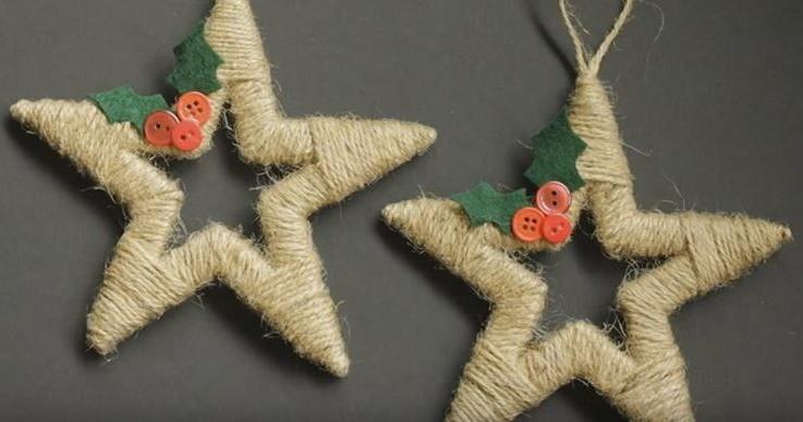 twine wrapped star