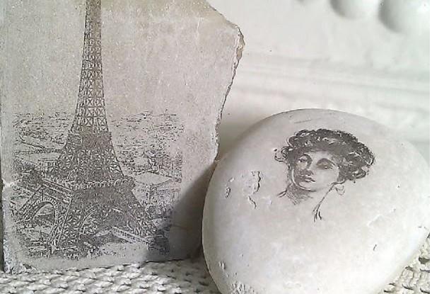 transfer photos onto rocks tutorial