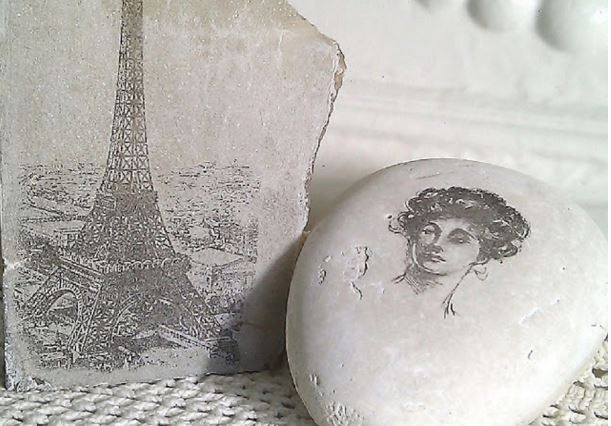 transfer photos onto rocks tutorial
