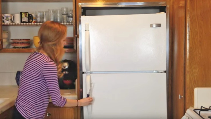 Use Removable Wallpaper To Spruce Up Your Fridge Wow